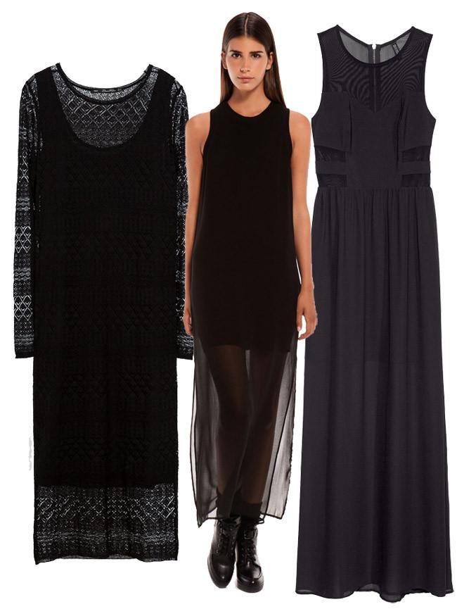 Vestido negro zara fiesta